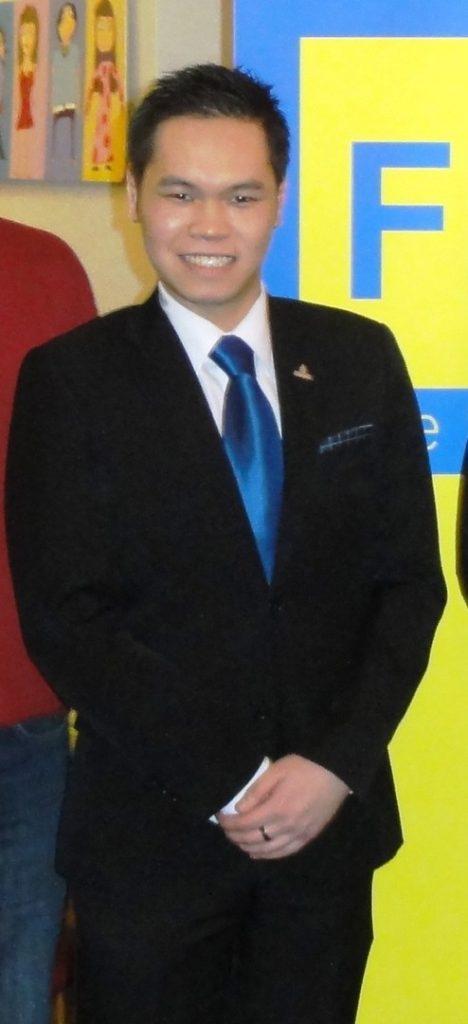 Der Vorsitzende der FDP Mannheim-Mitte Kai Ming Au