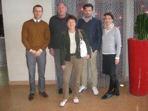 Benjamin Pfleger, Ulrich Fuchs (stv. Intendanten von Marseille-Provence 2013), Dr. Elke Wormer, Volker Beisel und Pia Leydolt von CaP.CULT (v.l.n.r.)