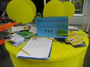 Unterschriftenaktion