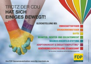 Kampagne der FDP-Gemeinderatsfraktion zum CSD 2013 in Mannheim