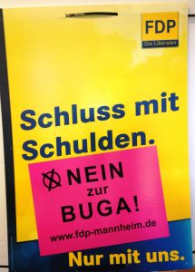 Die FDP in Mannheim wirbt für ein NEIN beim BUGA-Bürgerentscheid