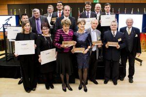 Die Teilnehmer der Preisverleihung
