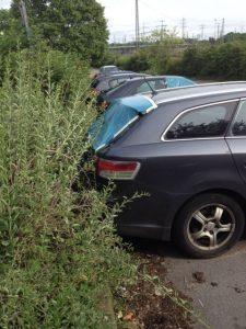Aufgebrochene PKWs am S-Bahnhof-Parkplatz Seckenheim-Hochstätt