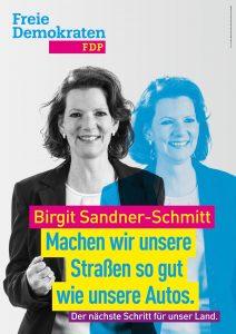 Kandidatenplakat Birgit Sandner-Schmitt_blau