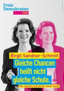 Kandidatenplakat Birgit Sandner-Schmitt_magenta