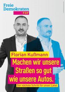 Kandidatenplakat Florian Kußmann_blau