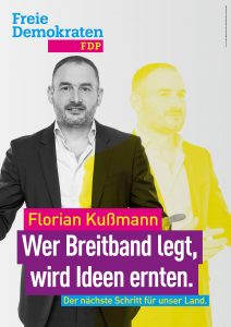 Kandidatenplakat Florian Kußmann_gelb