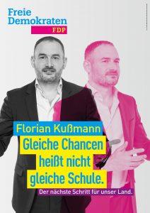 Kandidatenplakat Florian Kußmann_magenta