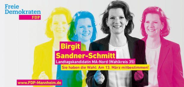 Birgit Sandner-Schmitt : Sie haben die Wahl: Am 13. März mitbestimmen!
