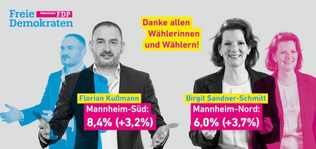 Landtagswahl 2016 Mannheim Danke
