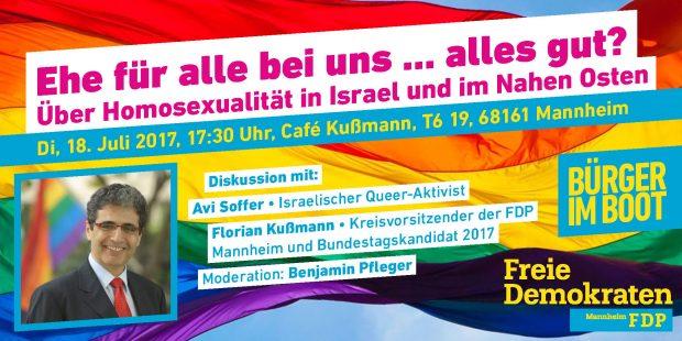 Bürger im Boot: Ehe für alle bei uns … alles gut? Über Homosexualität in Israel und im Nahen Osten