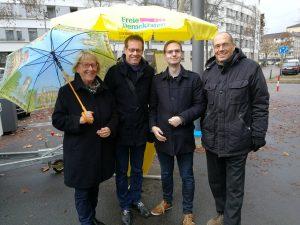 Stadträtin Dr. Birgit Reinemund, Konrad Stockmeier, Marcus Dannehl und Wolf-Rainer Lowack.