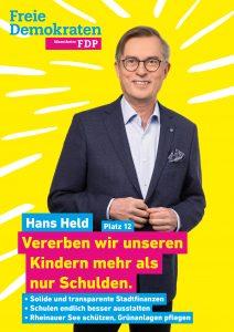 12. Hans Held, 65, von der Rheinau, Diplomwirtschaftsingenieur