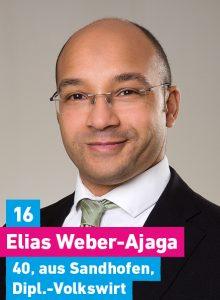 16. Elias Weber-Ajaga, 40, aus Sandhofen, Diplomvolkswirt