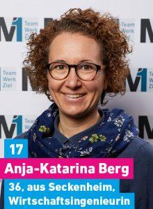 17. Anja-Katarina Berg, 36, aus Seckenheim, Wirtschaftsingenieurin