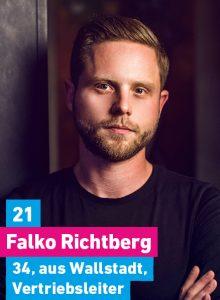 21. Falko Richtberg, 34, aus Wallstadt, Vertriebsleiter