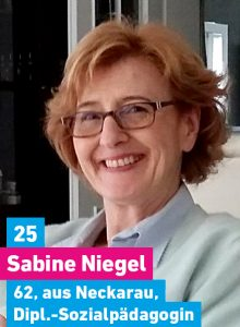 25. Sabine Niegel, 62, aus Neckarau, Diplomsozialpädagogin