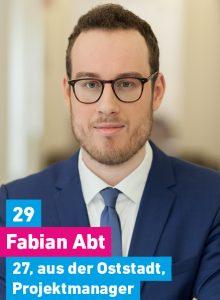 29. Fabian Abt, 27, aus der Oststadt, Projektmanager