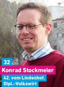 32. Konrad Stockmeier, 42, vom Lindenhof, Diplomvolkswirt