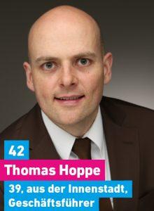 42. Thomas Hoppe, 39, aus der Innenstadt, Geschäftsführender Gesellschafter