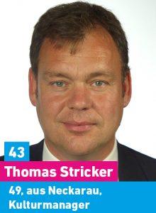 43. Thomas Stricker, 49, aus Neckarau, Geschäftsführer, Dozent