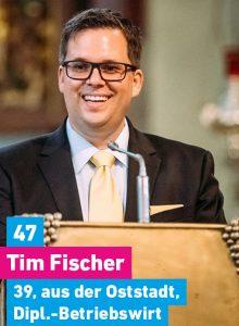47. Tim Fischer, 39, aus der Oststadt, Diplombetriebswirt