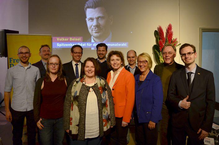 FDP Mannheim – Kreisvorstand und Stadträte mit Nicole Beer MdB beim Neujahrsempfang 2019