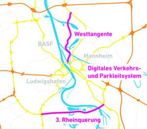 Verkehrskonzept Westtangente, 3. Rheinquerung