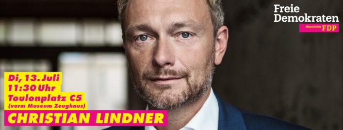 Christian Lindner in Mannheim am 13. Juli 2021