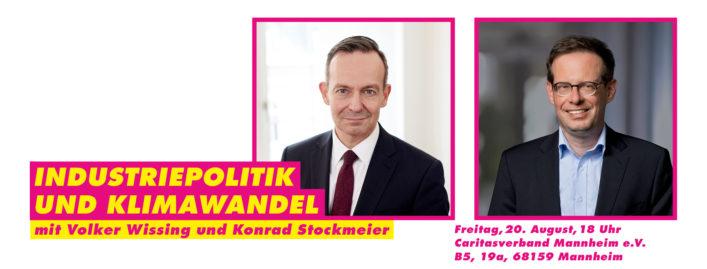 20.08.2021: Industriepolitik und Klimawandel – Diskussion mit Volker Wissing und Konrad Stockmeier