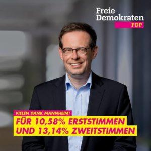 Bundestagsabgeordneter Konrad Stockmeier - Danke für Ihre Stimmen in Mannheim!