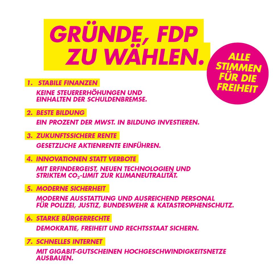 Gründe, FDP zu wählen
